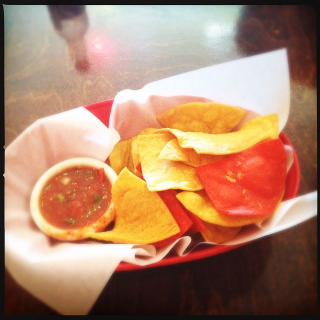 Three bucks netted us these chips and salsa. Photo by Vanessa Wolf