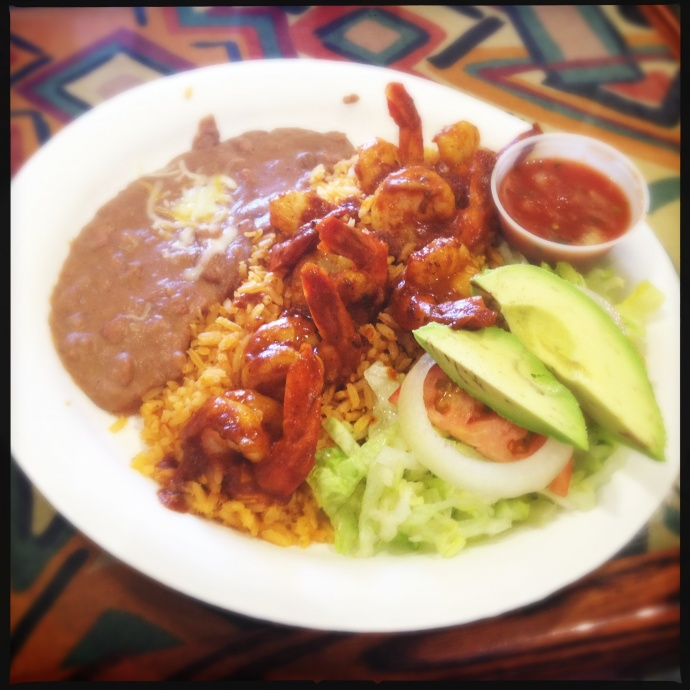 Camarones a La Diabla. Seriously spicy. Photo by Vanessa Wolf