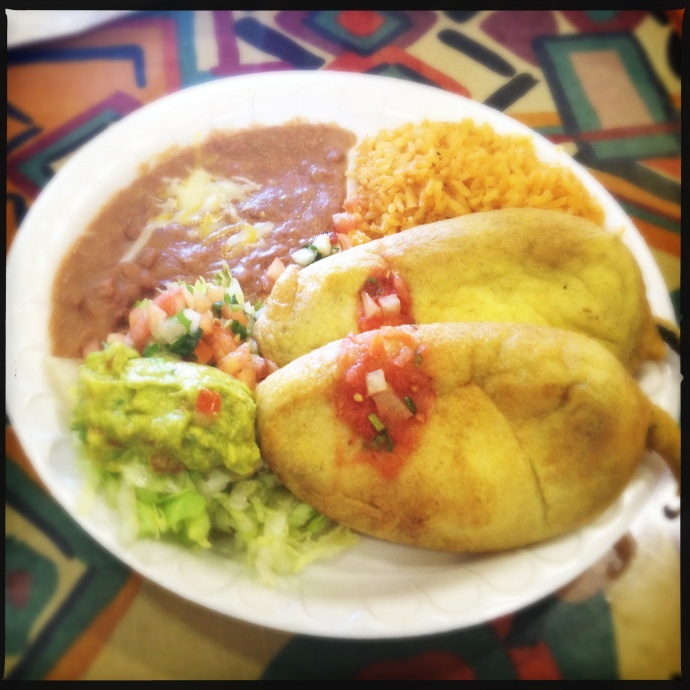 The Chile Relleno Platter. Photo by Vanessa Wolf