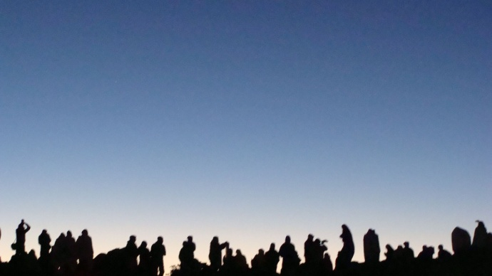 Spectators gather atop Haleakalā on Maui for night time viewing of a meteor shower.  File photo 2012 by Wendy Osher.