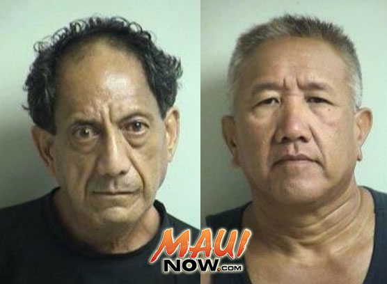Chester Mahuna (left) and Garrick Kanae (right). Photos courtesy Maui Police Department.