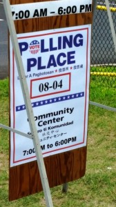 Primary election, Aug. 9, 2014. Photo by Wendy Osher.