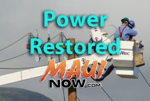 Power restored. Graphic by Wendy Osher.
