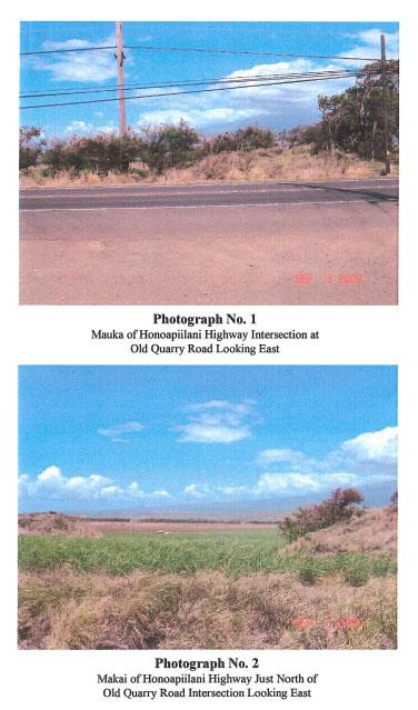 Waiʻale Road extension. Image courtesy Munekiyo & Hiraga/County of Maui, Public Works FEA.