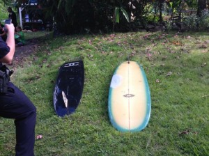 Two stolen surfboards have since been recovered. Courtesy photo.