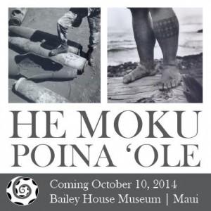 He Moku Poina 'Ole, An Island Not Forgotten. Event poster.