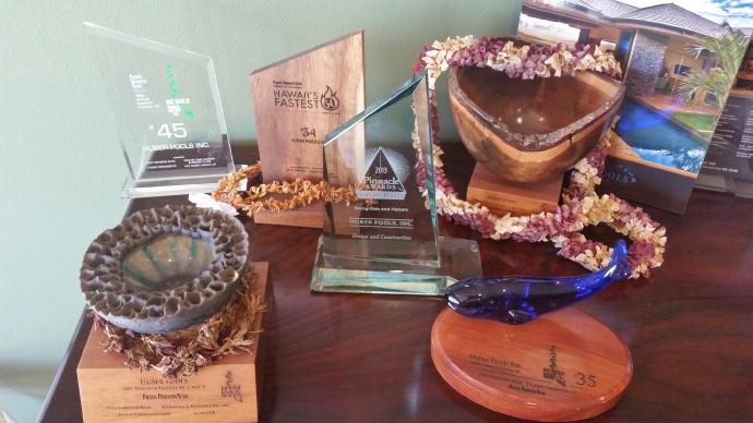 Huber Pools awards.