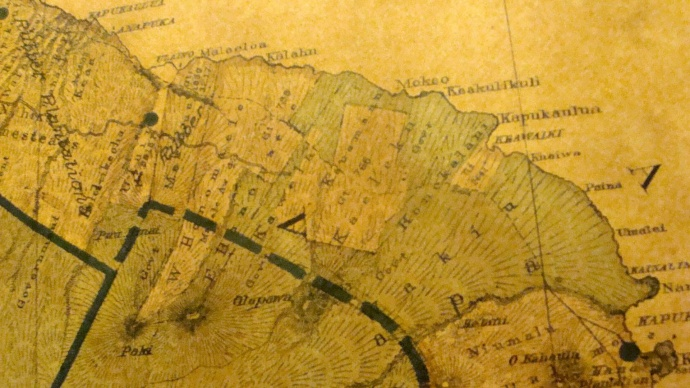 1885 Government map previously on display in the Bailey House meeting room, file photo by Wendy Osher.