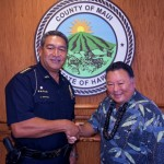 Chief Faaumu and Mayor Arakawa. Courtesy Photo.