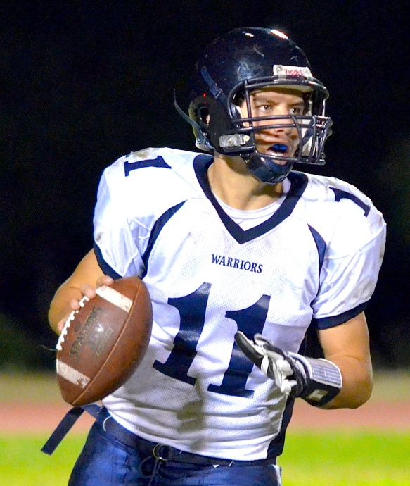 Kamehameha Maui quarterback Chase Newton says he is most comfortable with the football in his hand. Photo by Rodney S. Yap.