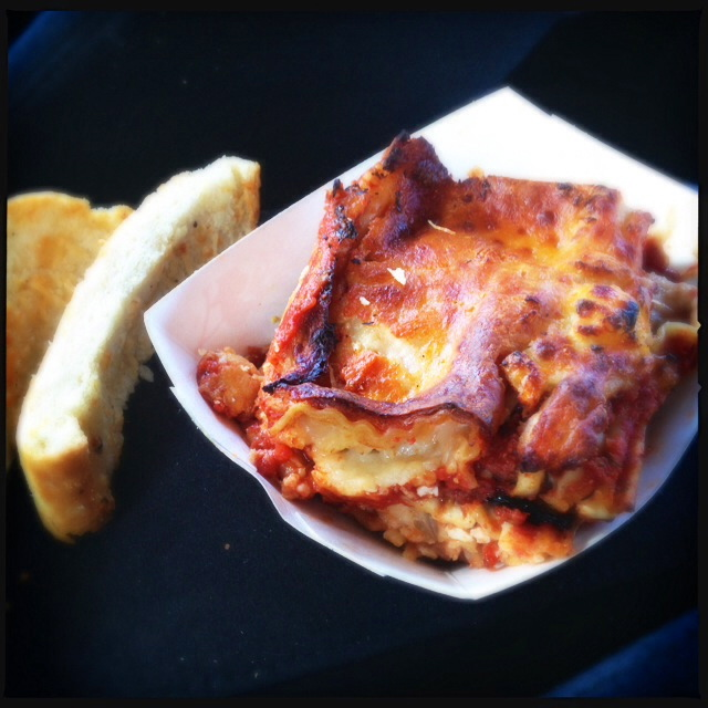 The Lasagna was probably much better when it was fresh. Photo by Vanessa Wolf