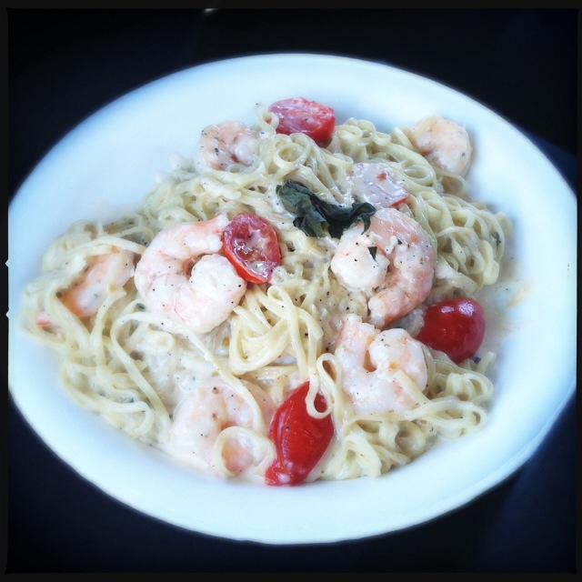 The Shrimp Pasta. Photo by Vanessa Wolf