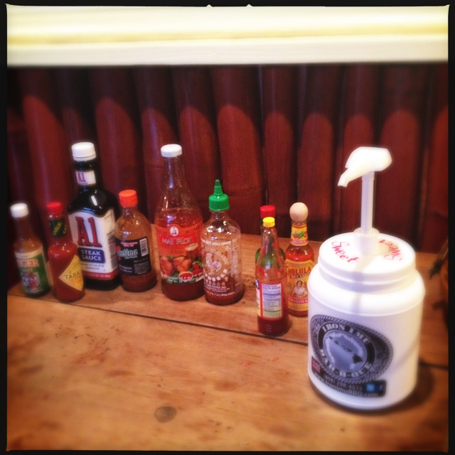 An international array of sauces with which to concoct your own hybrid. Photo by Vanessa Wolf