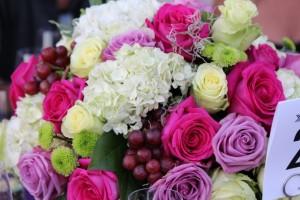 Kāʻanapali kitchen stadium, floral table arrangements. Photo by Wendy Osher.
