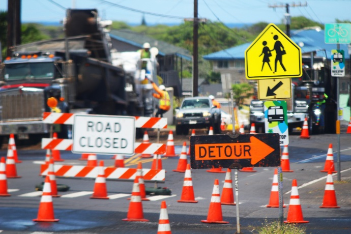 Papa Avenue construction in Kahului. Photo by Wendy Osher.