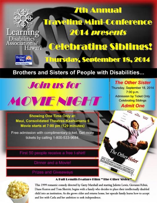 Movie night event flyer. Courtesy image.