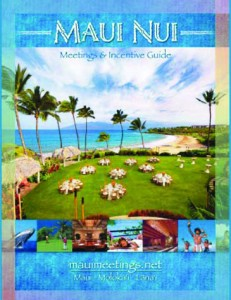 """Glick Design. Maui Visitors and Convention Bureau: """"Maui Nui Meetings & Incentives Guide, 24-page print collateral piece. Courtesy image."""