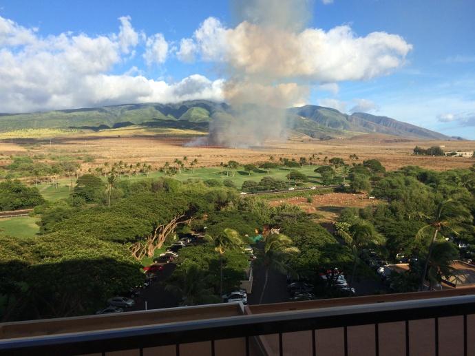 Lahaina brush fire, Sept. 23, 2014. Courtesy photo by Bryan Dickson.