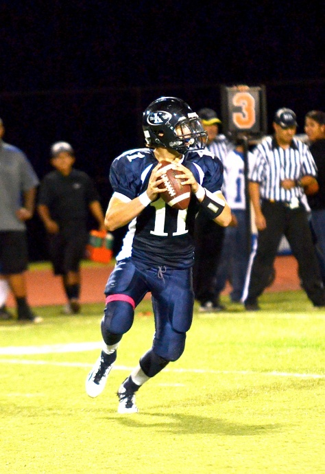 Newton, pictured as a junior last year, also has the school record for most touchdowns with 28. Photo by Rodney S. Yap.