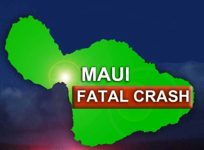Maui fatal crash. Maui Now graphic.