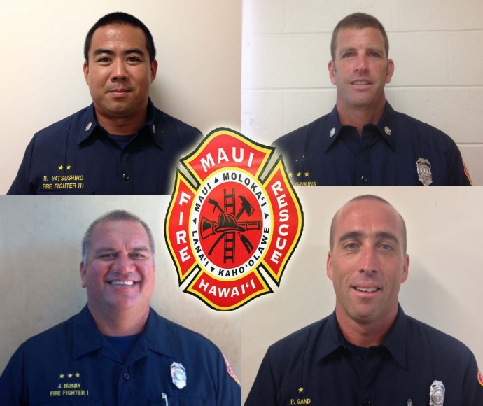 MFD promotions: (top R to L) Ryan Yatsushiro, Greg Jenkins, (bottom R to L) Jorgen Busby and Peter Gand.