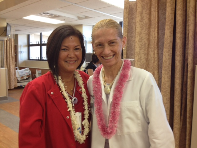 Ruby Matsui and Nephrology Director, Dr. Elaine Williams. Photo courtesy MMMC.
