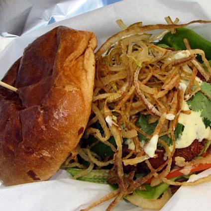 The Crabcake Sandwich. Photo by Vanessa Wolf