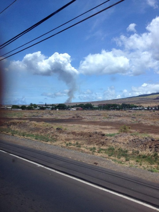 Puʻukoliʻi fire, 9/9/14. Photo courtesy Lada Murphy.