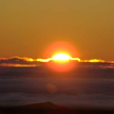 Sunrise at Haleakalā, file photo by Wendy Osher.