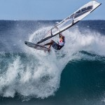 Keith Teboul shredding at the Aloha Classic yesterday at Ho'okipa / Image: Jimmie Hepp