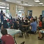 Rep. Tulsi Gabbard with kids at the Paukūkalo Boys & Girls Club on Maui. Courtesy photo.