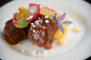 Anton Haines' dish for Noble Chef 2013.  Photo by Mieko Photography.
