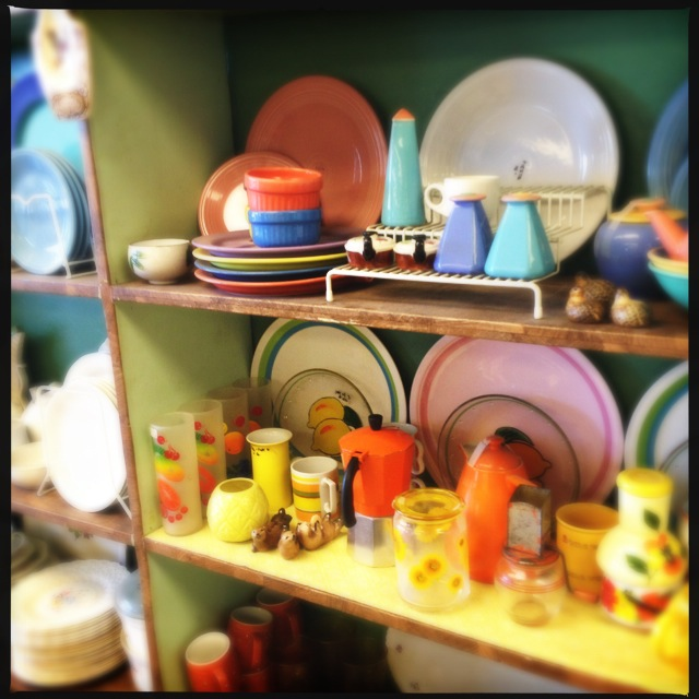 Missing a piece of your vintage 60s dish set? Look no further. Photo by Vanessa Wolf
