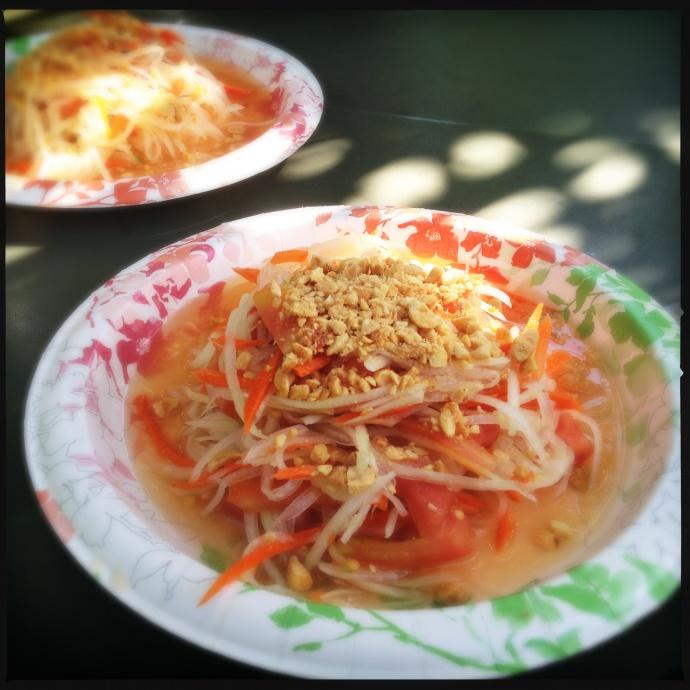 Green Papaya Salad or Som Tum. Photo by Vanessa Wolf