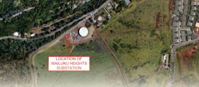 Maui Traffic Map.Maui Now Upgrades To Maui Electric Wailuku Heights Substation To