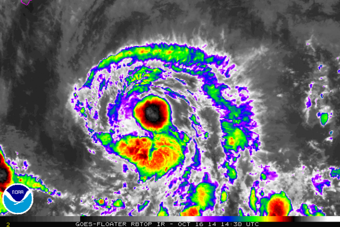 Satellite imagery for Tropical Storm Ana as of 5 a.m. on Thursday, Oct. 16, 2014. Image courtesy NOAA/NWS/Central Pacific Hurricane Center.