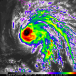 Satellite imagery, 2 p.m. HST, Friday, Oct. 17, 2014, courtesy NOAA/NWS.