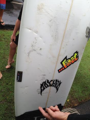 12-14 foot shark bites board at Māʻalaea. Courtesy photo.