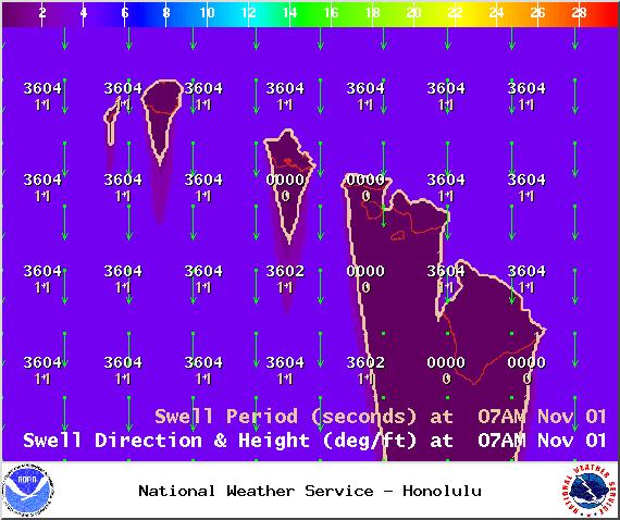 Swell 1 - Saturday Nov. 1, 2014 / Image: NOAA / NWS