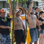 Anti-gmo march and rally in Kahului on Sunday, Oct. 26, 2014. Photo by Rodney S Yap.