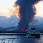 Oct. 27, 2014, 6:15 a.m. from Māʻalaea Harbor toward Kīhei. Courtesy photo.