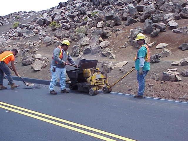 Road work at Haleakalā. Photo courtesy Haleakalā National Park.
