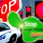 Stop or get stopped campaign. Maui Now graphics by Wendy Osher.
