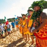 A blessing was held to kick off the event on Wednesday morning at Hoʻokipa Beach Park on Maui. Image courtesy AWT Sicrowther.