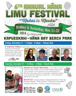 6th Annual Hāna Limu Festival event flyer.
