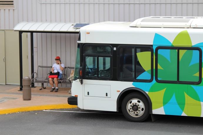 Maui Bus at the Queen Kaʻahumanu Shopping Center. Maui Now photo.