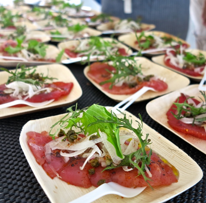 An ahi dish from a previous The Market by Capische? and Kai Kanani sunset cruise. Courtesy image.