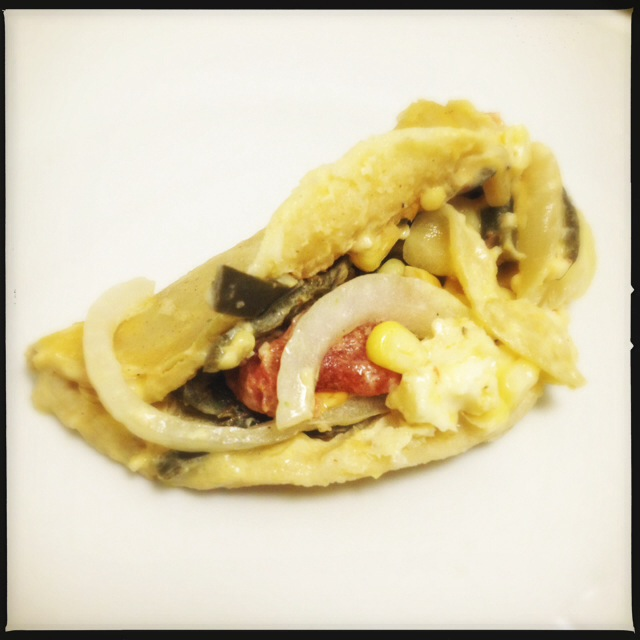 We loved pretty  much everything  about this Poblano and Corn Taco. Photo by Vanessa Wolf