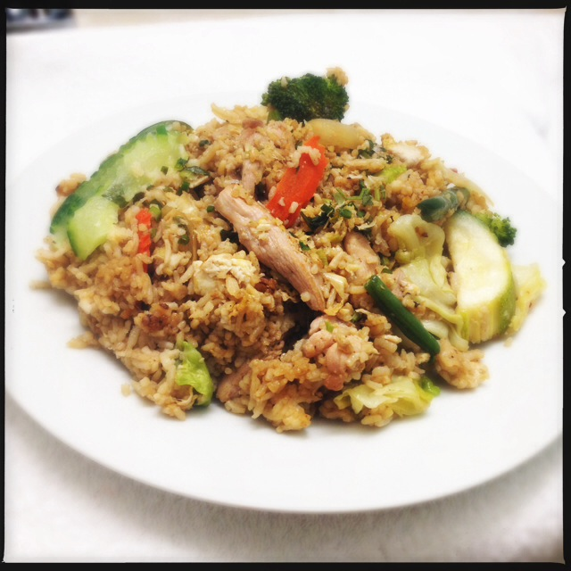 The Fried Rice with Chicken is solid. Photo by Vanessa Wolf