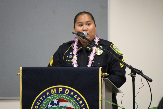 Maui Police Sergeant Audra Sellers. Photo by Wendy Osher.